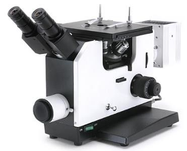 Inverted Metallurgical Microscope with a polarised light set for crystallographic analysis